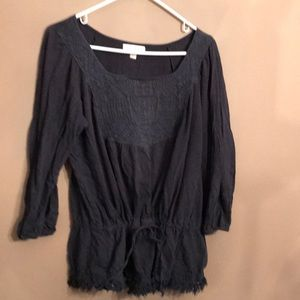 Kenar tunic with drawstring waist size medium
